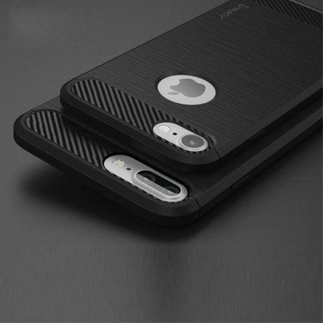 iPAKY Flexibel en stevig iPhone 7 plus TPU hoesje zwart
