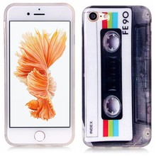 iPhone 7 flexibel hoesje  Casette bandje