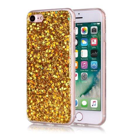 Gouden glitter. Iphone 7