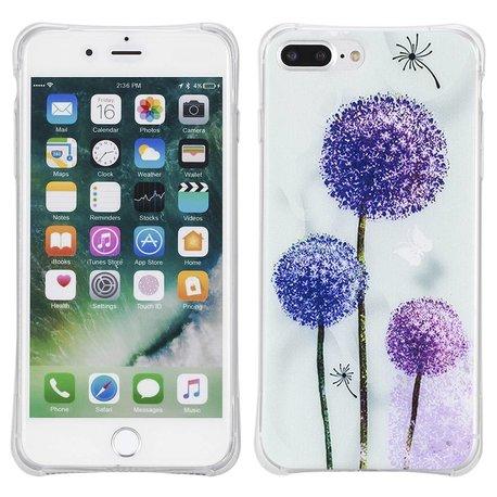 Blue purple dandelion. Iphone 7 plus flexibel hoesje