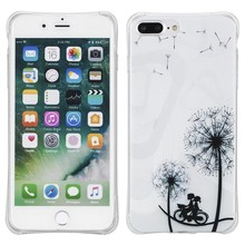 Dandelion with cycling couple. Iphone 7 plus flexibel hoesje