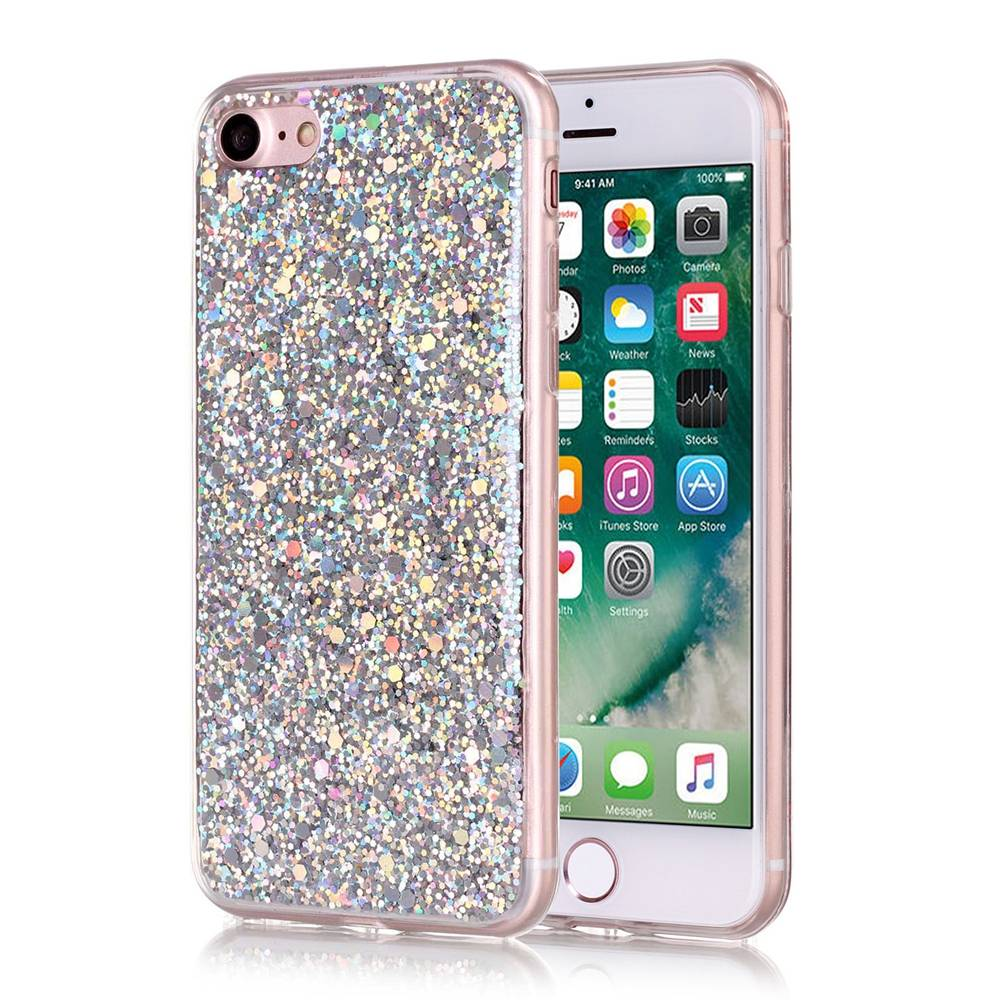 Zilver glitter. Iphone 7