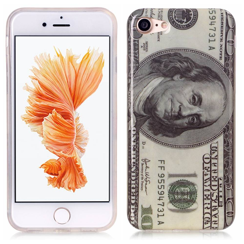 Afbeelding van 100 dollar biljet. Iphone 7