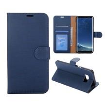 Blauw pu leren Galaxy S8 PLUS portemonnee hoesje