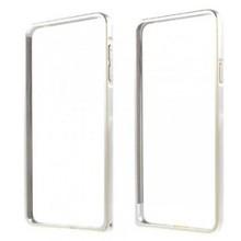 Zilverkleurige bumper voor de Samsung S7 Edge met goud randje
