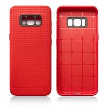Rode met putjes flexibel hoesje voor de Samsung Galaxy S8