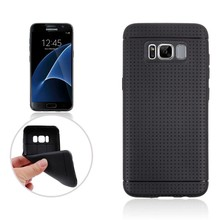 Zwarte met putjes flexibel hoesje voor de Samsung Galaxy S8