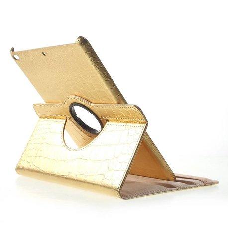 iPad 2017 en Air 1 hoes 360 roteerbaar kunstleder Goud