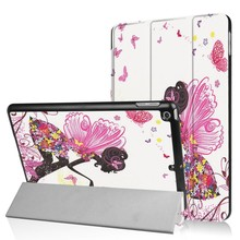 iPad 2017 en Air 1 Smart case Fee met bloemen