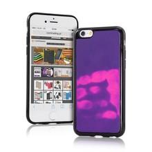 Thermo hoesje iPhone 7 Paars wordt roze bij warmte