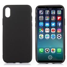 Zwart flexibel iPhone X TPu hoesje metallic paint
