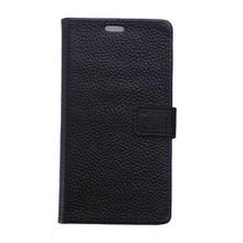 Zwarte Echt lederen iPhone X portemonnee hoesje