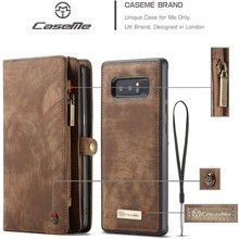 CaseMe Bruine multifunctioneel wallet hoesje Samsung Note 8