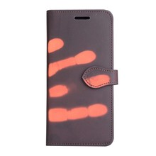 Thermo portemonnee  hoesje Samsung S8  Bruin wordt oranje bij warmte
