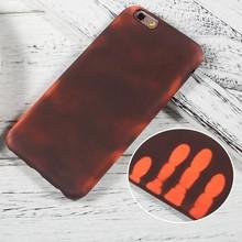 Thermo hoesje iPhone 6 PLUS Zwart wordt rood bij warmte