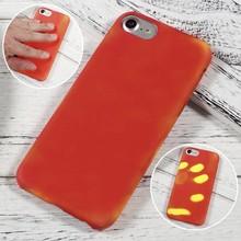 Thermo hoesje iPhone 7 en 8 Rood wordt Geel bij warmte