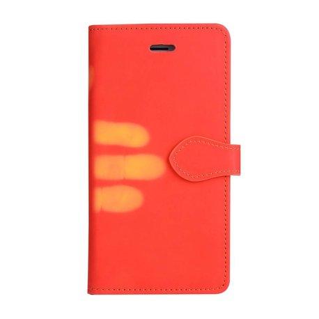 Thermo portemonnee  hoesje iPhone 7 en iPhone 8 Rood wordt geel bij warmte