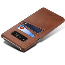 Suteni Donker Bruine harde met pu leer bekleed Galaxy Note 8  hoesje met ruimte voor 2 pasjes