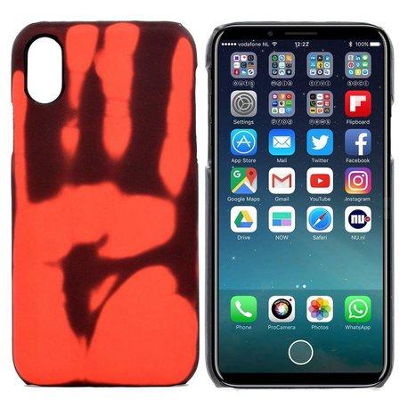 Thermo hoesje iPhone X verkleurd bij warmte