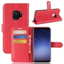 Rode kunstlederen Samsung galaxy S9 hoesje