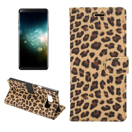 Luipaard bruin Samsung Galaxy Note 8 Portemonnee hoesje