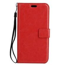 Crazy horse rode pu leren iPhone 7en 8  portemonnee hoesje