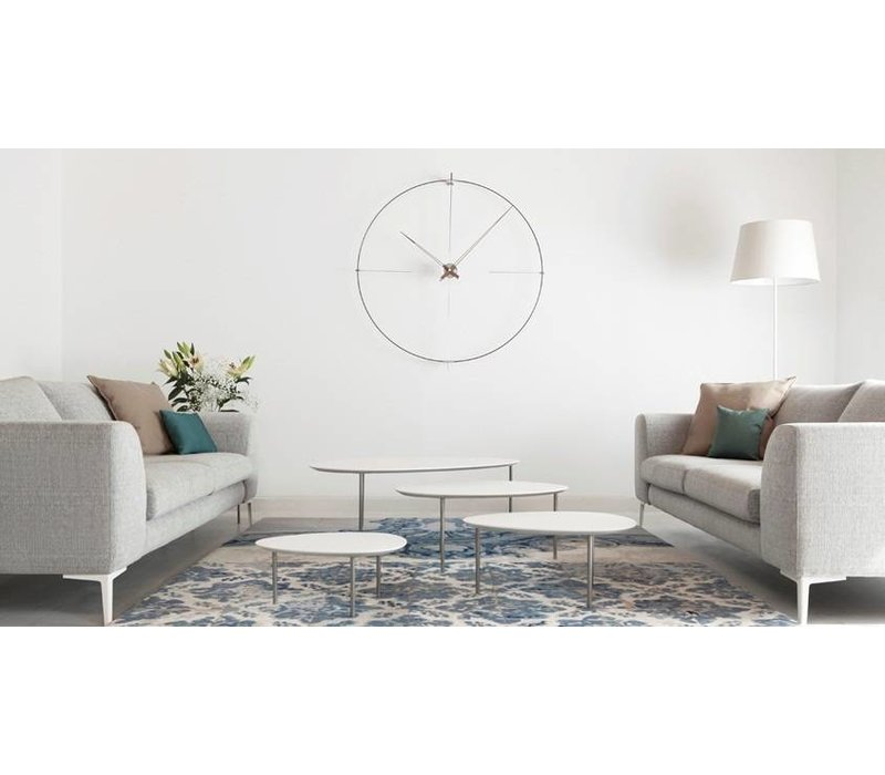 ronde klok 'Bilbao' minimalistisch ontwerp