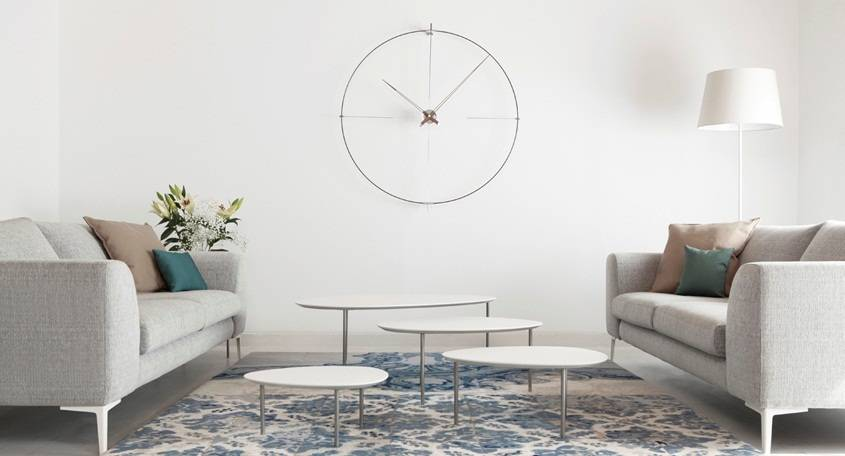 Ronde klok bilbao minimalistisch ontwerp wilhelmina designs