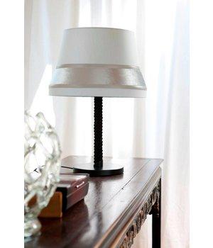 Contardi tafel lamp 'Audrey' gedecoreerd met accenten van zijde