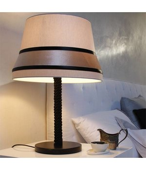 Contardi table lamp 'Audrey' decorated with silk detail