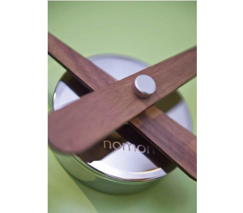 """Die Wanduhr Holz """"Sunset"""" hat einen Durchmesser von 50 cm, handgefertigt in Spanien"""