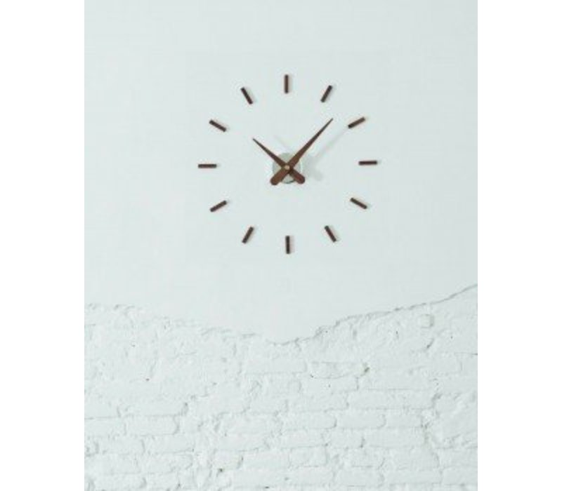 Sunset wooden wall clock diameter 50 cm by Nomón, handmade in Spain