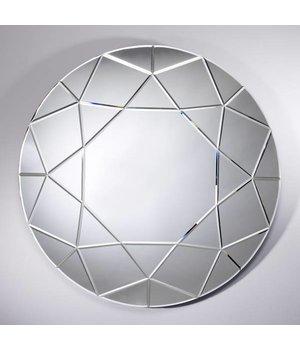Deknudt Großer runder Spiegel 'Round Diamond' Durchmesser 90 cm
