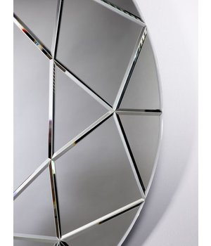 Deknudt large round mirror 'Round Diamond' 90 cm
