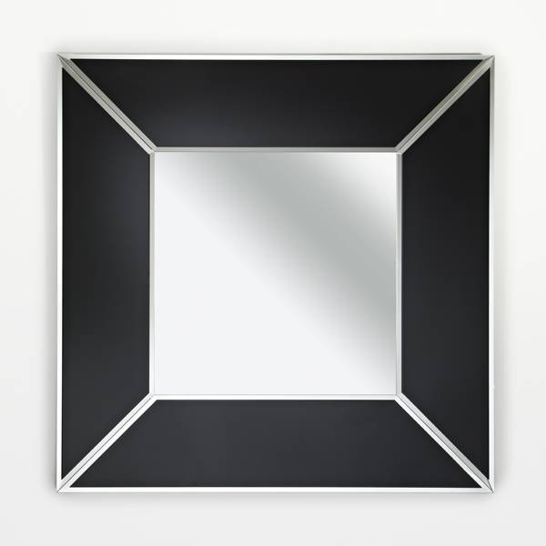 Deknudt 39 couture square 39 mirror with black frame 90 x 90 for Mirror 90 x 90