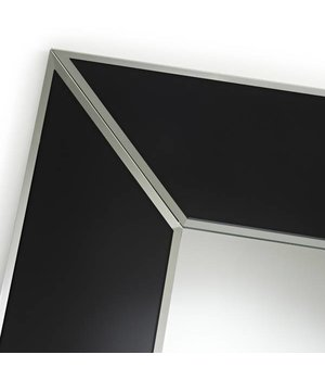 Deknudt 'Couture Square' mirror with black frame 90 x 90 cm