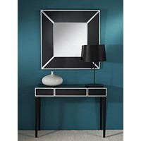 'Couture Square' mirror with black frame 90 x 90 cm