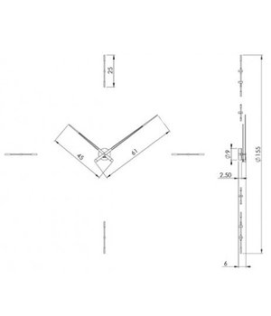 Nomon 'Mixto' XXL klok diameter 110, 125 of 155 cm handgemaakt in Spanje