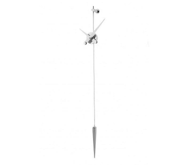 'Punta Y Coma' chrome clock with silent operation