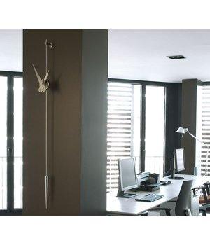 wanduhr edelstahl punto y coma wilhelmina designs. Black Bedroom Furniture Sets. Home Design Ideas