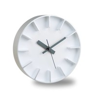 moderne round clock 'Edge' of casted aluminium