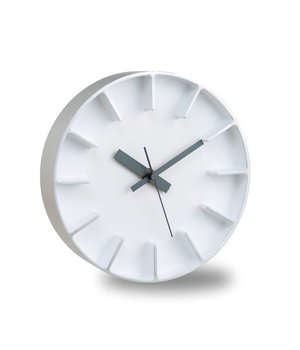 Lemnos moderne round clock 'Edge' of casted aluminium
