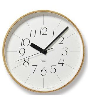 Lemnos RIKI wall clock combines beatiful design with excellent readability