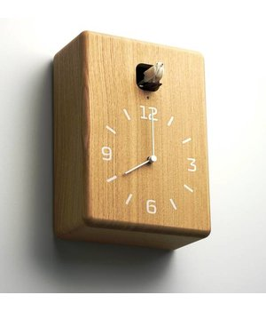 Lemnos Modern wooden cuckoo clock 'Cucu'