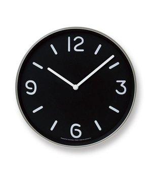 """Lemnos Moderne runde Wanduhr """"Mono"""" im verspielten Schwarz-weiß-Design"""