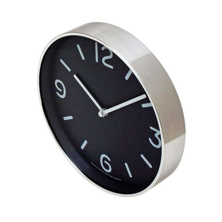 Lemnos moderne ronde klok 39 mono 39 in speels zwart wit design wilhelmina designs - Moderne klok ...