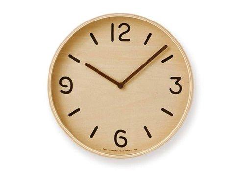 Lemnos wooden wall clock 'Thomson'