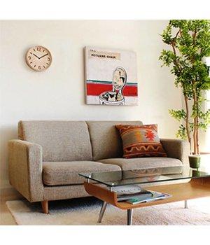 Lemnos Wanduhr aus Holz 'Thomson' in zwei Arten Naturholz erhältlich