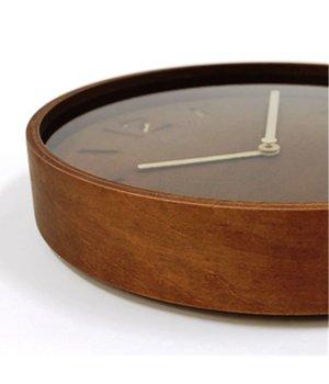 Lemnos Houten wandklok 'Thomson' beschikbaar in twee soorten natuurlijk hout