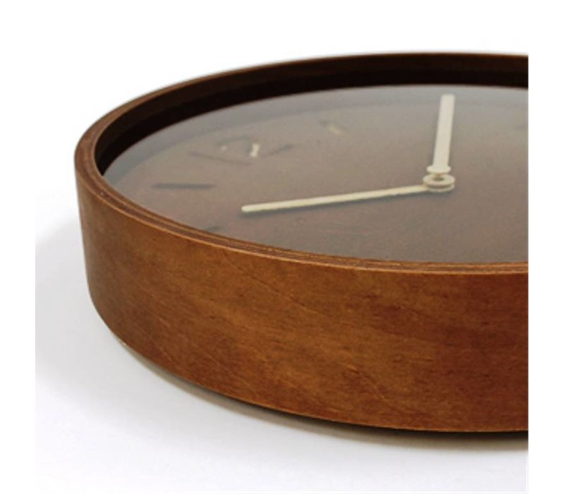Houten wandklok 'Thomson' beschikbaar in twee soorten natuurlijk hout